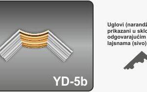 Ugao za zidne lajsne YD-5b