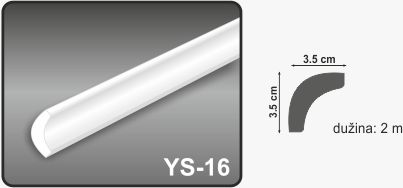 Ugaona lajsna YS-16