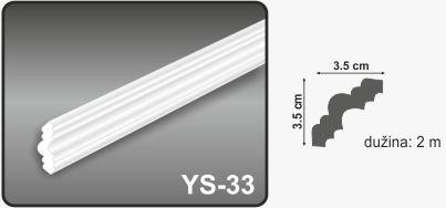 Ugaona lajsna YS-33