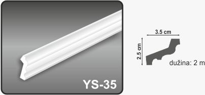 Ugaona lajsna YS-35