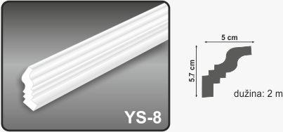 Ugaona lajsna YS-8